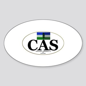 Cascadian Commonwealth Oval Sticker