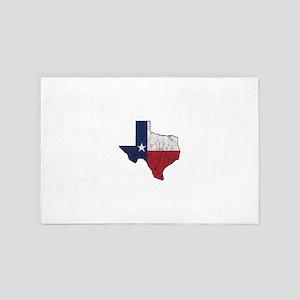Texas Flag Map United States Of Americ 4' x 6' Rug