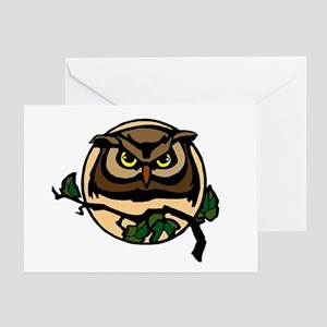 Great Horned Moon Greeting Card