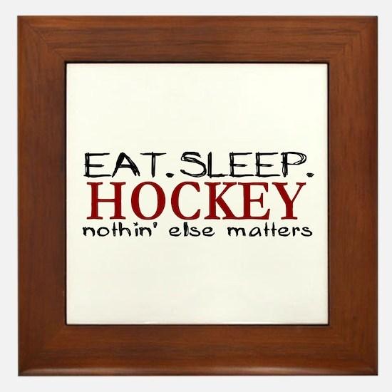 Eat Sleep Hockey Framed Tile