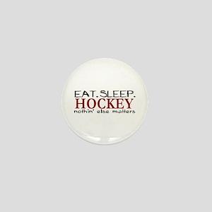 Eat Sleep Hockey Mini Button