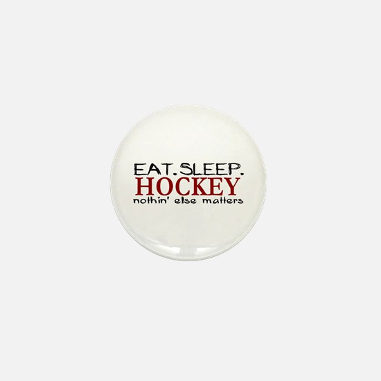 Eat Sleep Hockey Mini Button