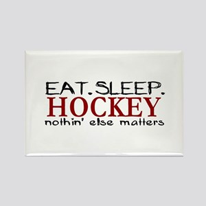 Eat Sleep Hockey Rectangle Magnet