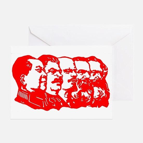Mao,Stalin,Lenin,Engels,Marx Greeting Card