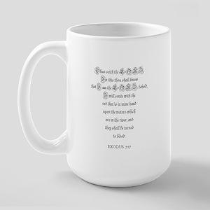 EXODUS  7:17 Large Mug