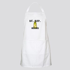 Eat ... Sleep ... MUSTARD BBQ Apron