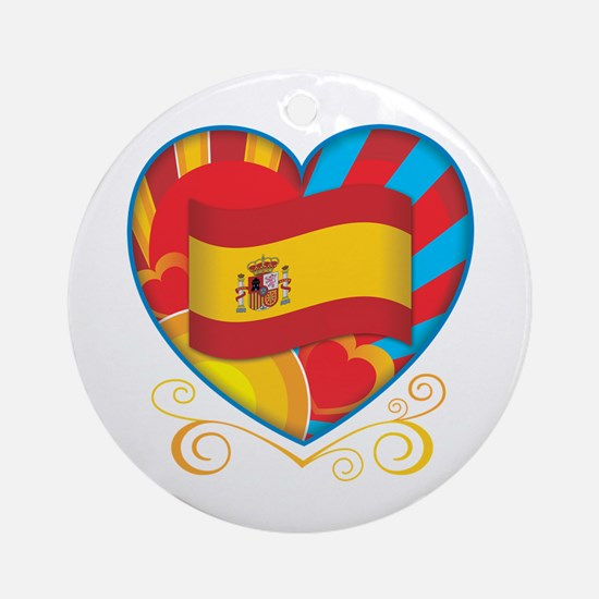 Spanish Heart Ornament (Round)