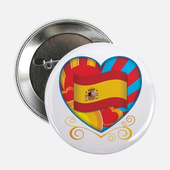 """Spanish Heart 2.25"""" Button"""