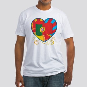 Portugese Heart Fitted T-Shirt