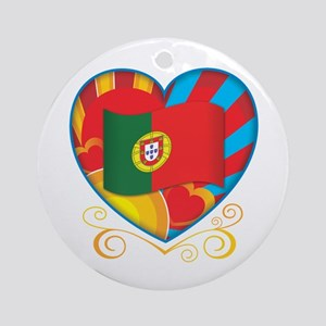 Portugese Heart Ornament (Round)