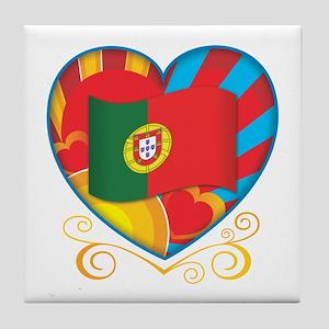 Portugese Heart Tile Coaster