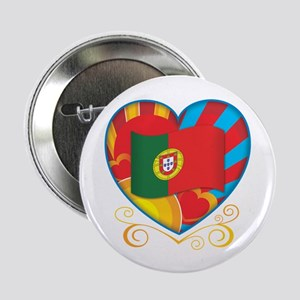 "Portugese Heart 2.25"" Button"