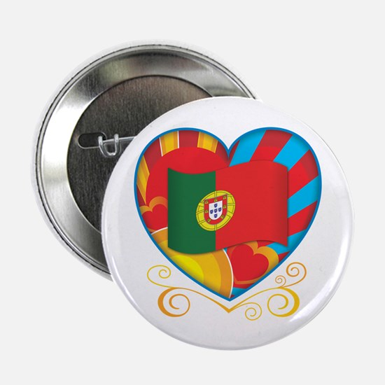 "Portugese Heart 2.25"" Button"