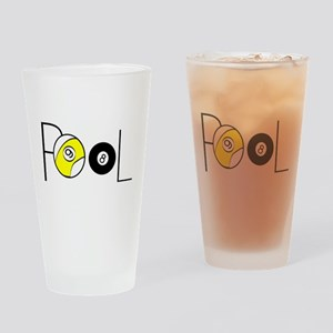 Word Pool Drinking Glass