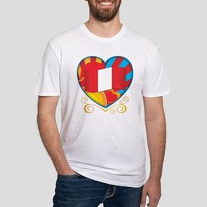 Peruvian Heart Fitted T-Shirt