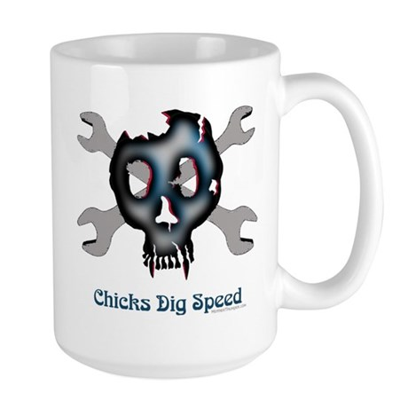 Chicks dig speed Large Mug