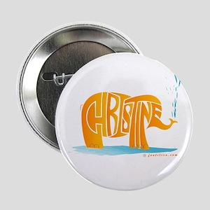 "Christine (Orange Elephant 1) 2.25"" Button"