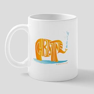 Christine (Orange Elephant 1) Mug