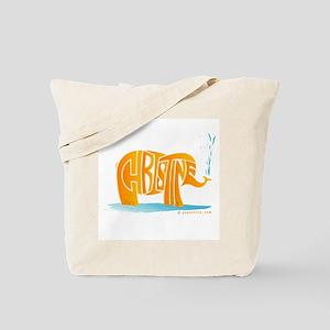 Christine (Orange Elephant 1) Tote Bag