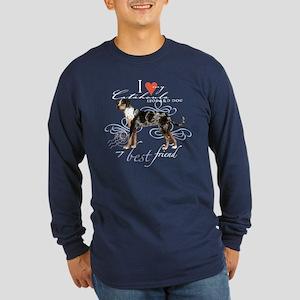 Catahoula Leopard Dog Long Sleeve Dark T-Shirt