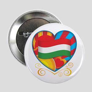 "Hungarian Heart 2.25"" Button"