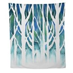 Winter Silhouette Wall Tapestry