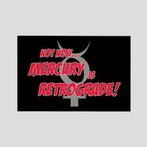 Mercury Retrograde Rectangle Magnet