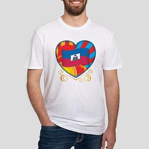 Haitian Heart Fitted T-Shirt