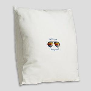 New Jersey - Wildwood Burlap Throw Pillow
