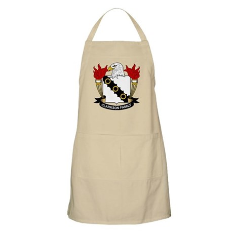 Clarkson Family Crest BBQ Apron
