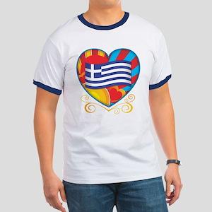 Greek Heart Ringer T