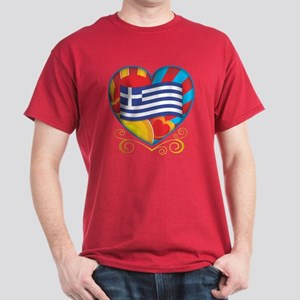 Greek Heart Dark T-Shirt