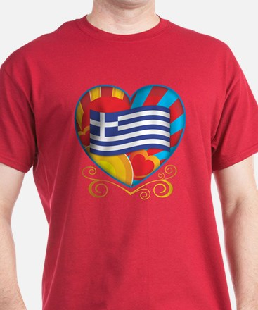 Greek Heart T-Shirt