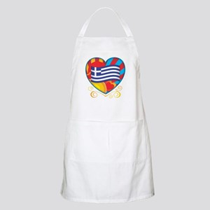 Greek Heart BBQ Apron