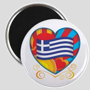 Greek Heart Magnet