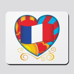 French Heart Mousepad