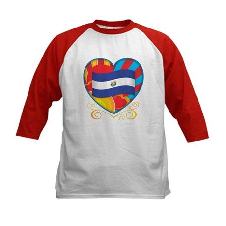 Salvadoran Heart Kids Baseball Jersey