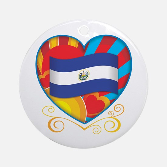 Salvadoran Heart Ornament (Round)