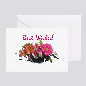 Best wishes greeting cards cafepress best wishes floral pk of 10 greeting cards m4hsunfo