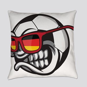 Germany Angry Soccer Ball with Sun Everyday Pillow