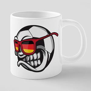 Germany Angry Soccer Ball with Sunglasses Deu Mugs