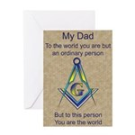 My Dad Masonic Greeting Card