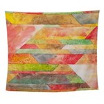 Crystal Colors Abstract Wall Tapestry