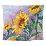 Sunny Sunflowers Wall Tapestry