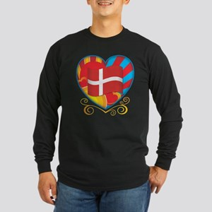 Danish Heart Long Sleeve Dark T-Shirt