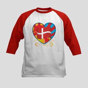 Danish Heart Kids Baseball Jersey