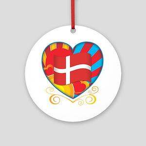 Danish Heart Ornament (Round)
