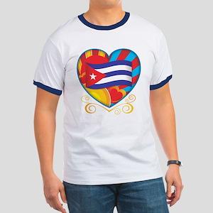 Cuban Heart Ringer T