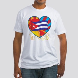 Cuban Heart Fitted T-Shirt