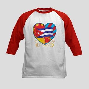 Cuban Heart Kids Baseball Jersey